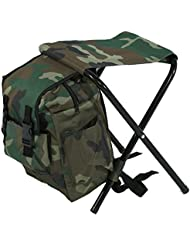 Chaise Pliante Siège Tabouret Pliable Portable Multifonction - Chaise + Sac à Dos pour Pêche Camping Voyages Plage Pique-nique Extérieurs