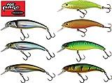Fox Rage Slick Stick Wobbler SR 4cm, 2g, Raubfischangeln, verschiedene Farben zur Auswahl, Shallow Runner, Flachläufer, Hechtköder, Forellenköder, Miniwobbler, Farbe:Hot Tiger