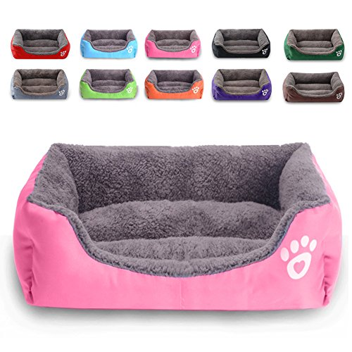 REXSONN® Hundebett kuscheliges, waschbares Hund Bett Hundekissen Hundesofa Hundekorb Hundehöhle hundehütte Katzenbet Tierbett Pet Dog Cat bed cushion