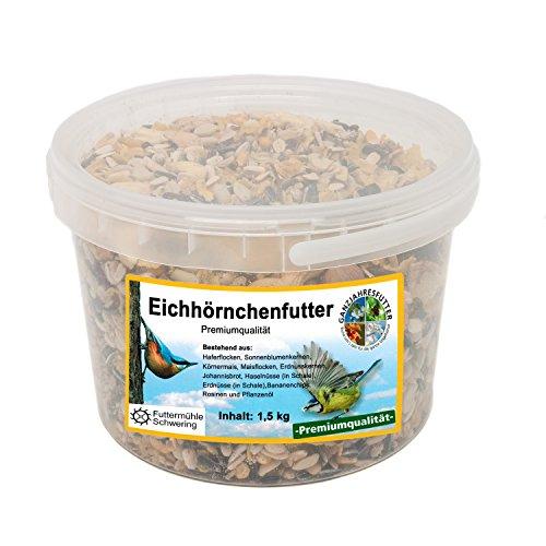 Eichhörnchen Nahrung, 1,5 kg Eimer Premium Eichhörnchen Futter