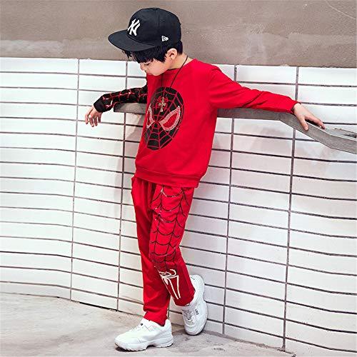 Spiderman Kostüm Full - ZGCP Halloween Kostüme Kinder Spiderman Kleidung Altman Batman Kostüm Full Red 110 Meter