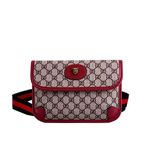 ted Umhängetasche Tiger Head Brusttasche Hüfttasche Frauentasche Diagonalverpackung, rot ()
