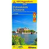 ADFC-Regionalkarte Ostseeküste Schwerin, 1:75.000, reiß- und wetterfest, GPS-Tracks Download: Mit Ostseeküstenradweg Travemünde - Wismar - Warnemünde (ADFC-Regionalkarte 1:75000)