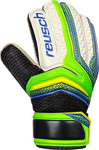 Reusch Kinder Serathor RG Easy Fit Junior Torwarthandschuhe, Green Gecko/Dazzling Blue, 5