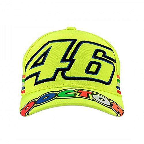 Valentino Rossi VR46 Moto GP The Doctor Stripes Amarillo Niños Gorra Oficial...