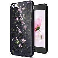 iPhone 6S Hülle,iPhone 6S Schutzhülle,Urhause Silikon Handyhülle TPU Case Transparente Echte Blume Bling Shiny... preisvergleich bei billige-tabletten.eu