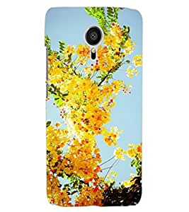ColourCraft Lovely Flowers Design Back Case Cover for MEIZU MX5