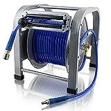 BITUXX® 30 Meter PU Schlauch Druckluft Schlauchtrommel Automatik Druckluftschlauchtrommel Trommel Aufroller