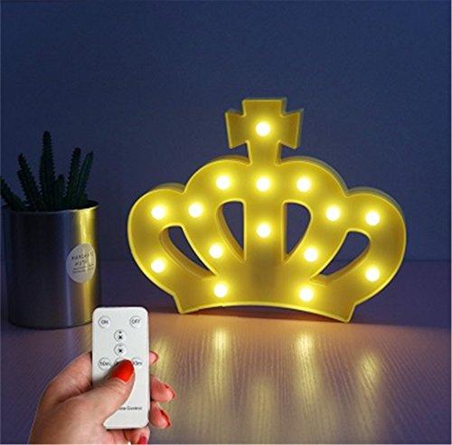 XIAOBIDENG Kreative eine Krone Kinder Nachtlichter Home 3D-Tischleuchte mit Fernbedienung Schreibtisch Lampe Baby Schlafzimmer Einrichtung Kinder Geschenke Gelb (Schlafzimmer Für Hello Lampen Kitty)