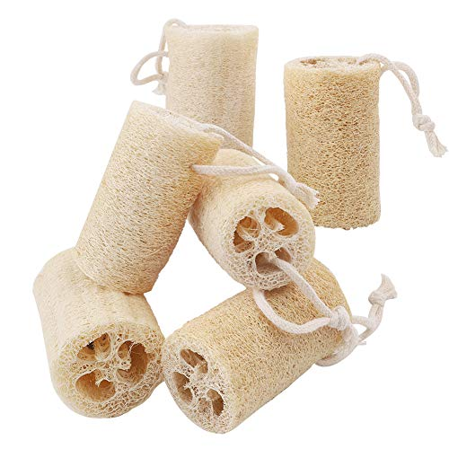 Scopri offerta per Hileyu Luffa Naturale Spugne Loofah, 6 pezzi, ideale per il bagno, il corpo, la doccia spugna da cucina 10 cm Lunghezza
