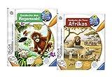 tiptoi Ravensburger Bücher Set - Wieso? Weshalb? Warum? Entdecke die Tiere Afrikas Entdecke Den Regenwald