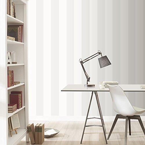 Rasch vertikalen Streifen Muster Tapete Modern texturiert zwei-ton-gestaltung - 286632 silber weiß -