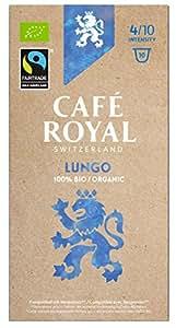 Café Royal Lungo Bio / Organic, 50 Nespresso kompatible Kapseln, 5er Pack (5 x 10 Kaffeekapseln)