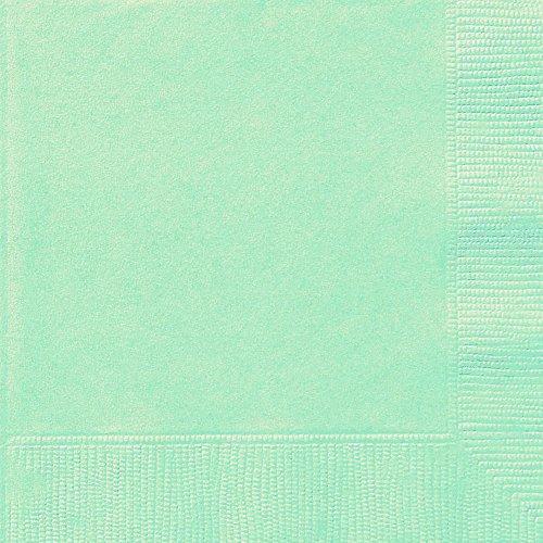 Unique Party - Servilletas de Papel - 16,5 cm - Verde Menta - Paquete de 20...