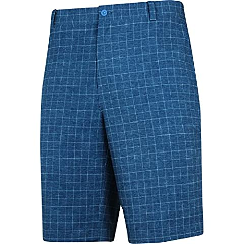Nike Bordure Plaid Short de golf, Homme, Light Blue Lacquer/Dove Grey/Anthracite, 40 W