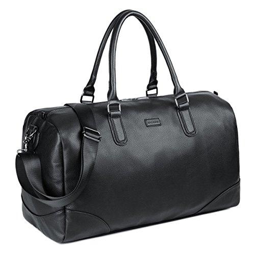 Baosha hb-06 borsa da viaggio tote da viaggio per sport di pelle sintetica borsa weekend bag unisex casual viaggi tote deposito satchel handbag vagabondo borsoni (nero oversized)