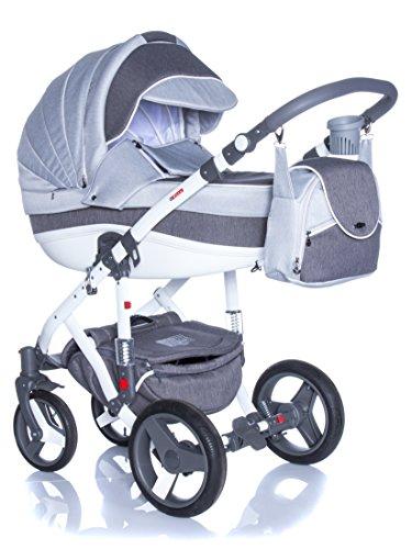 Kombi Kinderwagen Travel System Adamex Vicco R10 DUNKELGRAU 3in1 Buggy Sportwagen Babyschale Autositz Kite 0-13kg