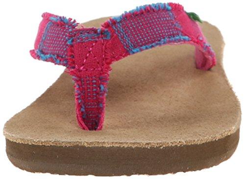 Sanuk Donna dita dei piedi Fraidy radio flip-flop, colore: fucsia Multi Rosa (Fuchsia Multi)