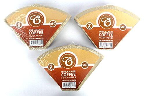 EDESIA ESPRESS - Kaffee-Filtertüten - ungebleicht - Größe 6 - 240 Stück