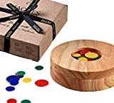 Tiddlywinks - Travel Tiddledy Winks Set with Wooden Storage Case - Jaques of London
