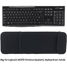 Wommty Portátil Bolsa de Transporte Antipolvo de Cubierta la Estuche de la Manga de Protección Con Malla de Bolsillo para Logitech MK270 - Pack de teclado y ratón