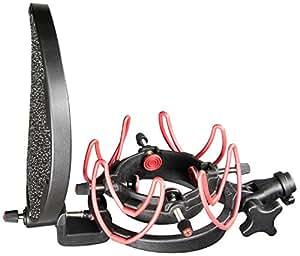 Rycote 045003 InVision USM-L Kit Suspension pour Microphone Studio avec Filtre Anti-pop