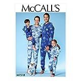 McCall 's Patterns Herren/Damen/Jungen/Mädchen/Kind Jumpsuit und Hundemantel, Mehrfarbig, Größen S-XL