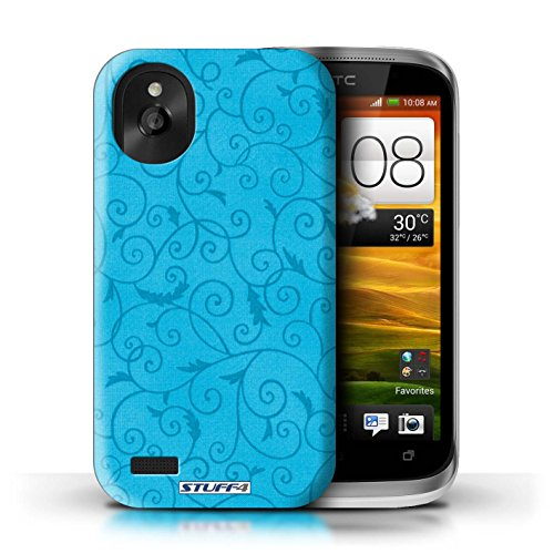 Kobalt® Imprimé Etui / Coque pour HTC Desire X / Rose conception / Série Motif de la vigne Turquoise