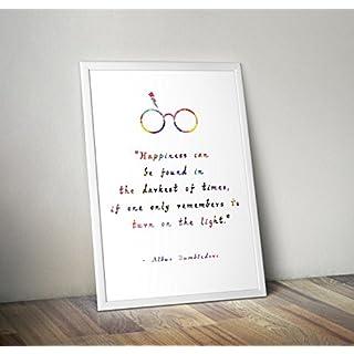 Harry Potter inspiriert Aquarell Poster - Professor Albus Dumbledore - Hogwarts - Zitat - Alternative TV/Movie Prints in verschiedenen Größen (Rahmen nicht im Lieferumfang enthalten)