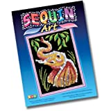 KSG Arts and Crafts Sequin Art 0831 Elephant Picture Kit