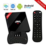 H96 Pro Plus Android 7.1 TV Box [3GB/32GB/4K] Amlogic S912 Octa-core 64 Bits CPU Dual WiFi 2.4 GHz/5.0 GHz Bluetooth 4.1 H.265 con Mini Teclado Inalámbrico Smart TV Box