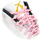 Xtenex - X300 Pink 40 (PATENTED) Adjustable Eyelet Blocking No Tie Elastic Shoe Laces for an Extreme Lock In Performance Fit