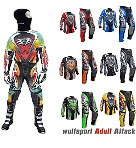 Brand New 2017 Style Motorbike Motorcycle Adult Race Suits WULFSPORT Motocross ATV Quad MX Racing Sports Kids For Mens Clothing Bike Shirts And Trousers All Colours (BLUE, XL / Pants 36)
