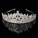 WHH* Mujeres Europa Retro Palacio Reina Corona / Rhinestone De Plata / crysta / pelo aro / Novia De Lujo De La Boda Ornament / Tiaras 1 Pieza