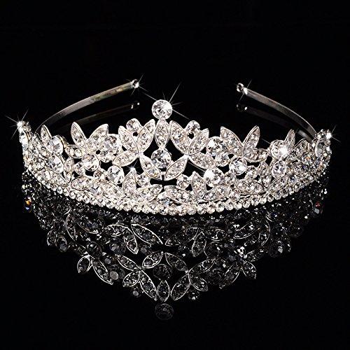 DHC* Europäische Retro- Palast-Königin-Krone der Frauen / silberner Rhinestone / crysta / Haarband / Braut-Luxuxhochzeits-Verzierung / Tiaras 1 Stück