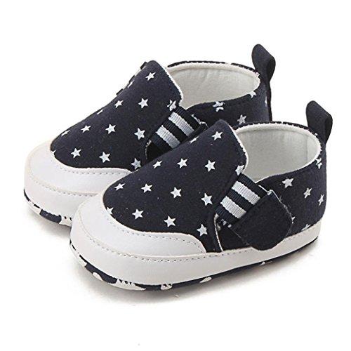 Baby 3 Uk Kostüme Halloween Monate 0 (Neugeborene Baby Turnschuh Schuhe, QinMM Neugeborene Baby Mädchen Jungen Druck Krippe schuhe Weiche alleinige Anti-Rutsch Turnschuh Schuhe 0-18 Monate (0-6M,)