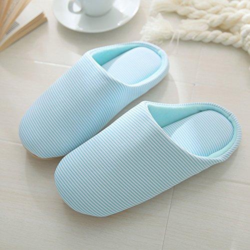 Di Sottofondo Donne Di colore Uomini Zhirong Taglia Blu 43 Pantofole Invernale Gli Le Per 42 E Pantofole Xl Marrone Cotone wx7RqP7FEv