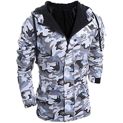 Coversolate Hombres Otoño Invierno Camuflaje Viento Hombres Capucha Escudo Blusa