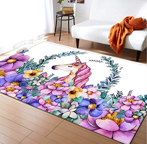 Coperta Strisciante Per Bambini, Tappeto Creativo Per Bambini, Cartone Animato, Stampa Unicorno, Decorazione Camera Da Letto 140cmx200cm