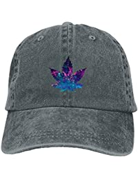 Sdltkhy Galaxy Weed Leaf Unisex Washed Adjustable Vintage Cowboy Hat Denim  Baseball Ningunos Multicolor65 39d9a34cec6