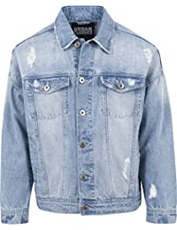 Urban Classics Herren Jacke Ripped Denim Jacket