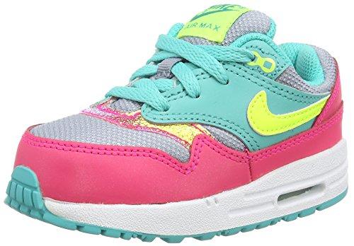 Nike Air Max 1 (TDV) - zapatillas de running de piel Bebé-Niños, color multicolor, talla 26