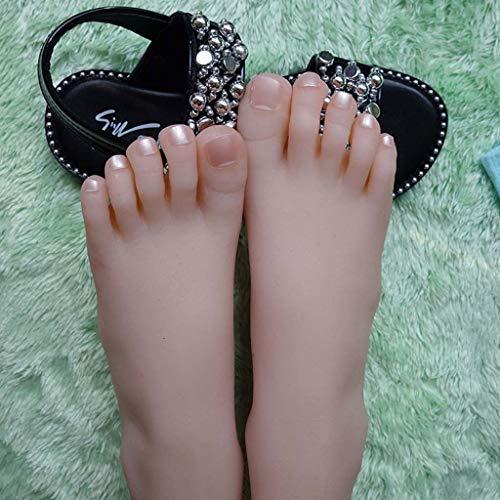 Shooting Requisiten Weibliche Silikon Lebensgroße Schaufensterpuppe Fuß, Sandalen Schuhe Socken Kurz Strumpf Knöchel Ketten, Kunst Skizzieren Fußfetische für Männer