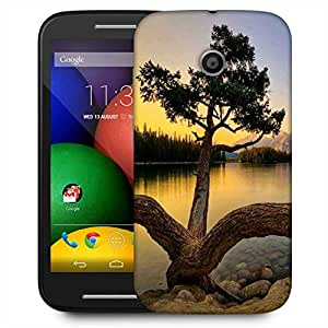 Snoogg Zig Zag Tree Designer Protective Phone Back Case Cover For Motorola E2 / MOTO E22