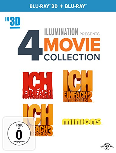 ICH – EINFACH UNVERBESSERLICH 1 + 2 + 3 + MINIONS [3D Blu-ray]