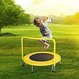 AH Trampolino Elastico Tondo Pieghevole per Bambini e Giovani (Giallo)