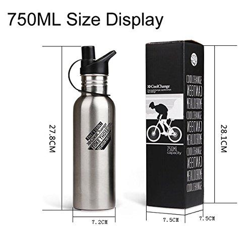 Bazaar All'aperto bici della bicicletta mette in mostra la bottiglia di acqua in acciaio inox