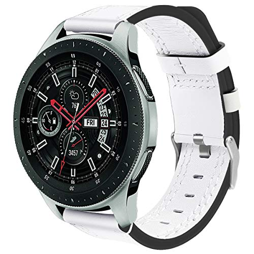 DakTou Armband Kompatibel mit Samsung Armband 46 mm,Schnellverschluss Samsung Classic Armband Sport Lederband Verstellbare Gürtel
