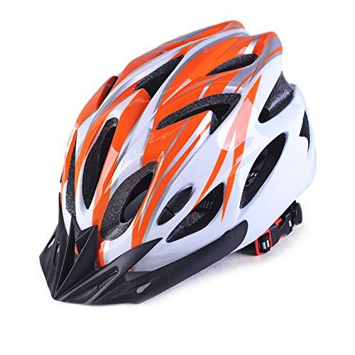 Ultraleichter 220g Aero Fahrradhelm Sportbekleidung Sicherheit MTB Rennradhelme Super Half Herren In Mould PC + EPS Helm, orange weiß