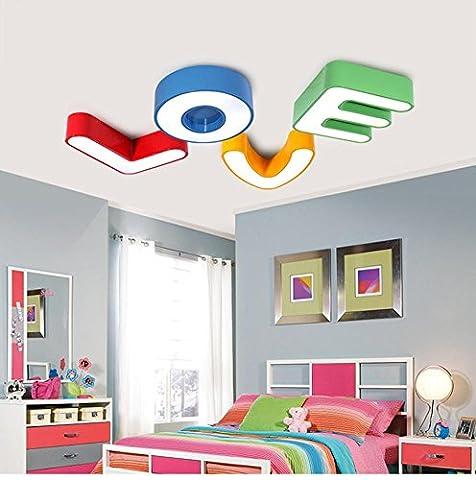 Deckenleuchten Moderne Einfachheit 26- Englisch Alphabet Kindergarten Lampen Vergnügungspark Lichter Kinderzimmer Deckenleuchten LED-Beleuchtung Persönlichkeit kreativ , red , M
